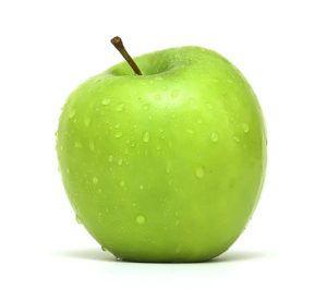 В зеленом яблоке встречается зеленый краситель