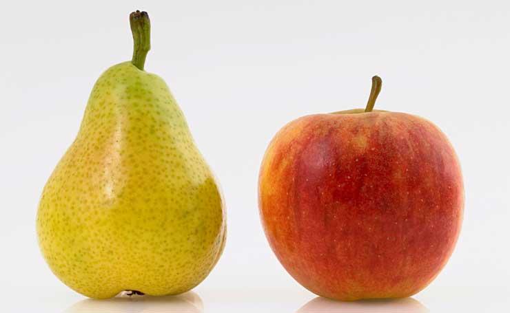 Открытка, картинки груши и яблока