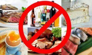 Исключить из рациона вредные продукты