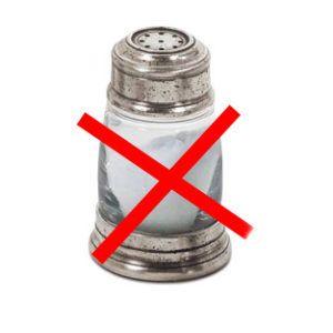 Соль можно заменить соусами