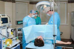 Хирургическое вмешательство при выпадении матки.