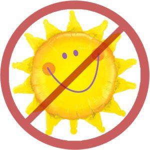 избегать прямых солнечных лучей