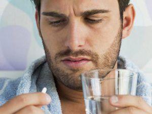 Препарат запивают водой