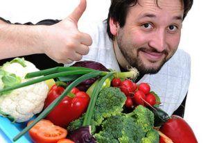 В свой рацион следует включать овощи и фрукты