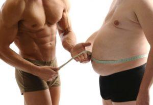 Лишний вес одна из причин проблем с потенцией