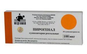 Пирогенал также выпускается в форме свечей и вводится ректально