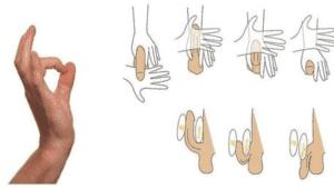 массаж полового члена
