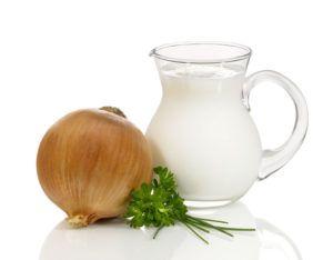 лук с молоком
