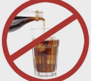 Следует отказаться от газированных напитков.